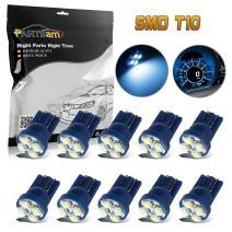 Partsam T10 194 168 Instrument Panel Gauge Cluster Dashboard LED Light Bulbs Lights Lamp-10Pcs Ice Blue