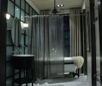 Adwatia Shower Curtain 3D Ripple Bathroom Curtain Liner 72'' 72'' (Grey)