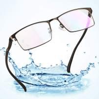 LifeArt Blue Light Blocking Glasses, Anti Eyestrain, Computer Reading Glasses, Gaming Glasses, TV Glasses for Women Men, Anti UV, Anti Glare (Brown, No Magnification)