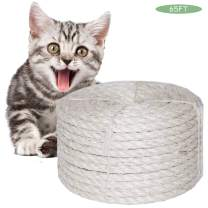 O'woda Cat Natural Sisal Rope for Scratching Post Tree Replacement(6mm)