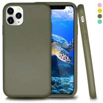 Biodegradable iPhone 11 Pro Phone Case,Eco-Friendly,Durable and Slim,5.8 Inches (Olive Green)