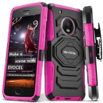 Moto G5 Plus Case, Evocel [New Generation Series] Belt Clip Holster, Kickstand, Dual Layer for Motorola Moto G5 Plus XT1687 (5th Gen / 2017 Release), Pink (EVO-MOTG5PLUS-XX05)