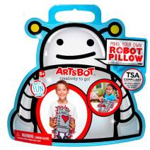 ARTSBOT Craft Kits - Make Your Own - Creativity & Imagination On The Go - Compact, Mess-Free, Stress-Free Art Kit for Boys and Girls 5+ - Common Core Compatible - 4 Great Kits (Robot Pillow)