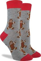 Good Luck Sock Women's Gingerbread Men Christmas Socks - Adult Shoe Size 5-9