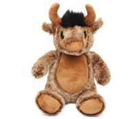 """Puzzled Plush Sitting Buffalo, 9"""" Adorable Soft Huggable Decorative, Excellent Gift, Party Favors, Props,, Surprise Bag Items for Kids, Children, Toddler Stuffed Animals Toys & Games, Brown"""