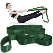 Onory Yoga Strap Stretch Straps for Physical Therapy with Exercise Booklet & Carry Bag Non-Elastic Multi Loops