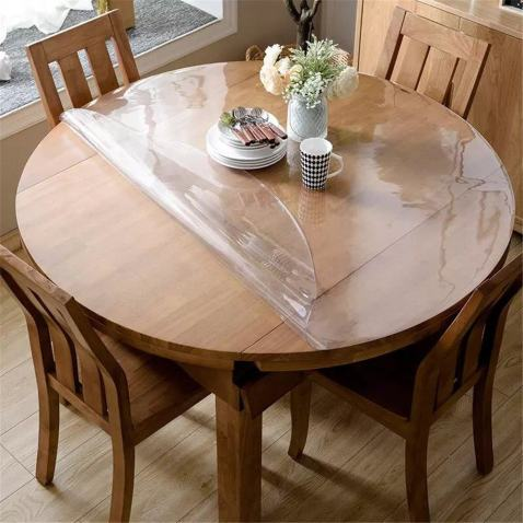Clear Table Cloth OstepDecor Custom 2mm Thick Clear Table Cover 96 Inch Clear Table Cover Protector Tablecloth Protector