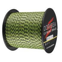 Dorisea Extreme Braid 100% Pe Multi-Color(Fluorescent Green&Black) Braided Fishing Line 109Yards-2187Yards 6-550Lb Test Fishing Wire Fishing String Superline