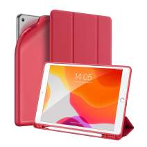 iPad 10.2 Case 2019 with Pencil Holder, Herize iPad 7th Generation Case Cover with Auto Sleep/Wake Feature,Lightweight Smart Cover with Soft TPU Back for iPad 10.2 inch,iPad 7th Generation 2019,Red