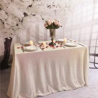 TRLYC Sequin Tablecloth-60x126-Inch-Iridescent Rectangular Sequin Fabric