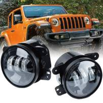 BAOLICY 4 Inch LED Fog Lights for 2007-2018 Jeep Wrangler JK Unlimited JK Front Bumper Replacements 60W White CREE Led Chip Driving Offroad Foglights