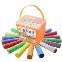 Washable Sidewalk Chalk - 20 Pieces Colorful Sidewalk Chalk chalkboard markers (Orange small square barrel)
