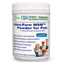 NWC Naturals Ultra-Pure MSM Powder for Pets - 1 lb Canister Made in The USA OptiMSM
