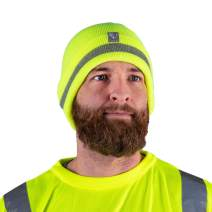Armorbilt Safety Beanie – Reflective High Visibility Yellow/Orange - Winter Cold Weather Knit Hat