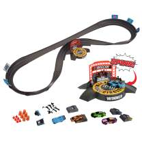 Far Out Toys NASCAR Crash Circuit Ultimate Road Course Bundle with Huge Race Track, Winner's Circle, 4 Cars Total | Electric Powered, Over 6 Ft Assembled | Capture The Momentum and Thrill of Nascar