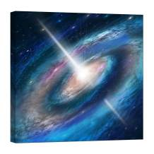 Wall Art for Living Room - Glow in The Dark Canvas Painting - Stretched and Framed Giclee Print - Backgrounds Space Fantasy Light Star - Wall Decorations for Bedroom - 24 x 24 inch