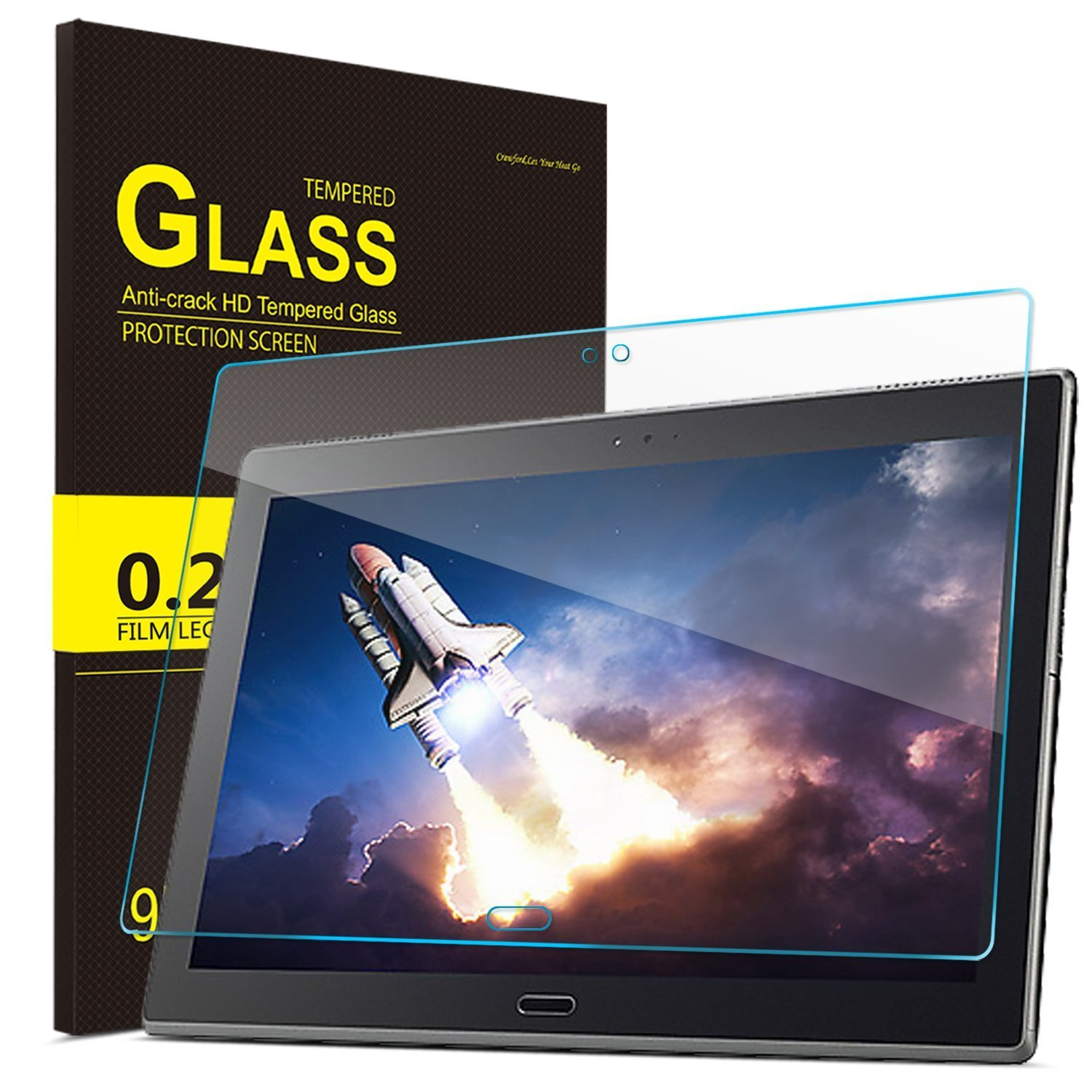 IVSO Screen Protector for Lenovo TAB 4 10 Plus, Ultra-Thin 9H Hardness HD Clear& Premium Tempered Glass Screen Protector for Lenovo TAB 4 10 Plus Tablet(2pcs)