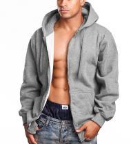 PRO 5 Mens Heavy Weight Zip Down Hoodie