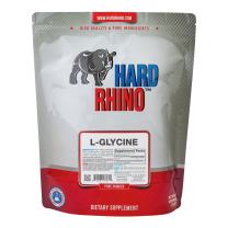 Hard Rhino L-Glycine Powder, 1 Kilogram (2.2 Lbs), Unflavored, Lab-Tested, Scoop Included