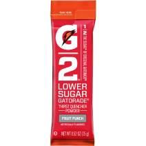 Gatorade G2, Lower Sugar, Single Serve Powder Packs, Fruit Punch, Makes 20 ounces, Pack of 64