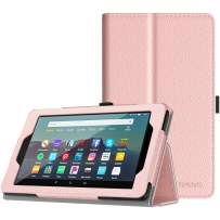 TiMOVO Case Fits All-New Fire 7 Tablet (9th Generation, 2019 Release) - Lightweight Smart Shell Slim Folding Cover Case with Auto Wake/Sleep Fit Amazon Fire 7 Tablet - Rose Gold