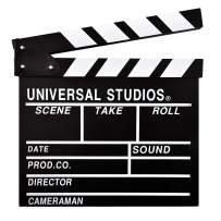 "Hamnor Professional Movie Film Clap Board Large 12""x11"" International Standard Hollywood Movie Clapboard"
