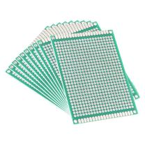 uxcell 10pcs 6x8cm Double Sided PCB Board Universal Printed Circuit Proto Board for DIY Soldering Electronic Projects Practice Test Circuit