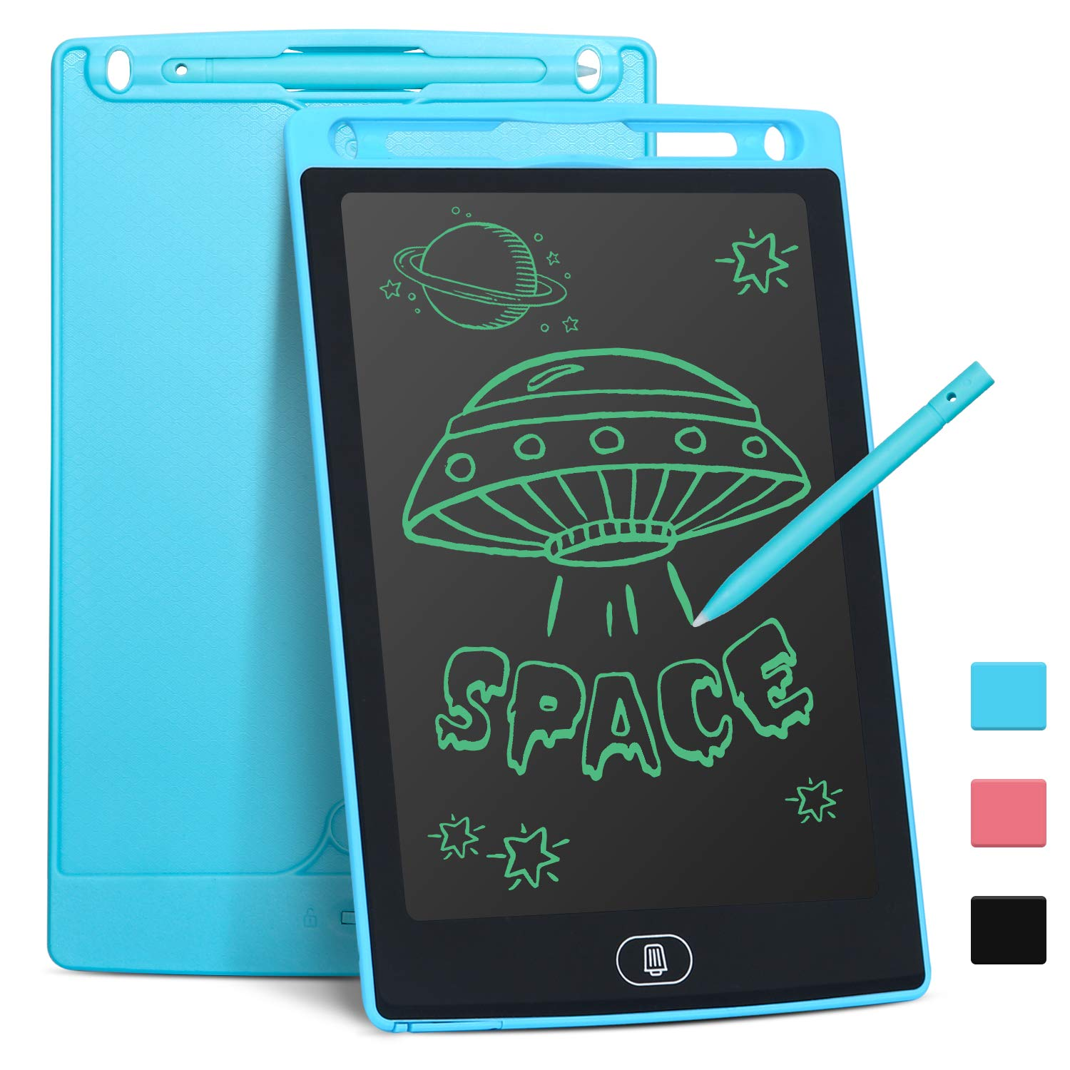 LCD Writing Tablet for Kids 8.5 Inch, Bropang Drawing Board Doodle Board Writing Pad Reusable Portable Ewriter Educational Toys, Gift for Kids Student Teacher Adults at Home, School and Office(Blue)