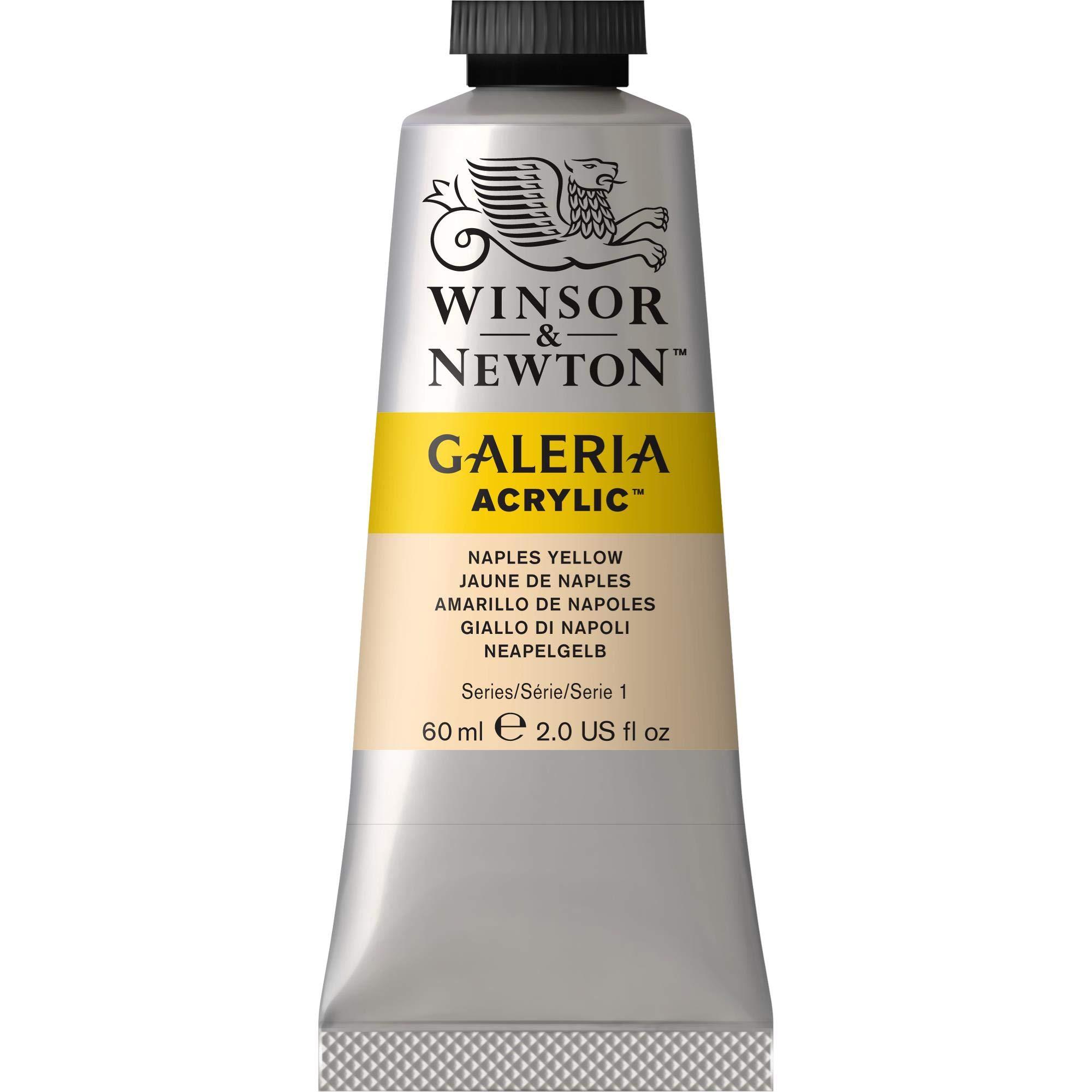 Winsor & Newton, Naples Yellow Galeria Acrylic Paint, 60ml Tube, 60-ml, 2 Fl Oz