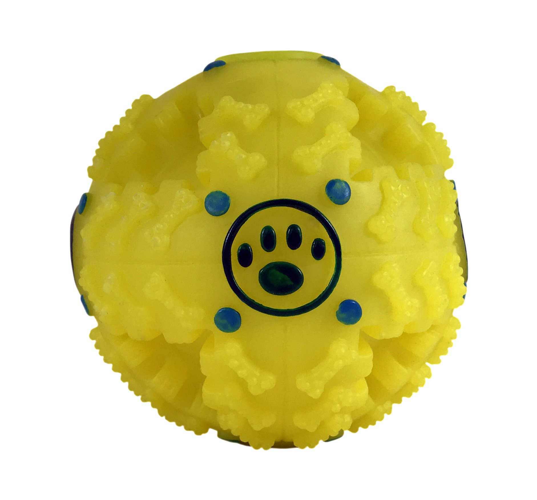 Kinrex Food Dispenser For Dog And Cat Interactive Dog Toys Funny Dog Puzzle Iq Treat Ball Yellow 4