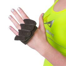 BraceAbility Ulnar Deviation & Drift Hand Splint | MCP Knuckle Joint Support Brace for Rheumatoid Arthritis & Tendonitis Pain Relief, Finger Straightener & Stretcher Glove - S (SM/MED) Right