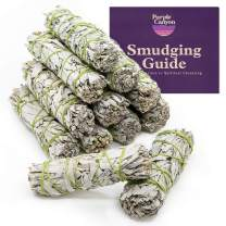 PURPLE CANYON White Sage Bundles Refill Kit - (12 Pack) - Bulk Sage Smudge Stick for Home Cleansing Incense Healing Meditation and California Smudge Sticks Rituals (4 Inches)