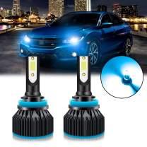Xotic Tech 2pcs H8 H9 H11 Ice Blue 8000K LED Headlight Bulb Conversion Kit, High Low Beam Fog Light 6000LM Super Bright