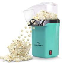 SOLTRONICS Maker for Home Electric Hot Air Popcorn Popper Machine with Removable Measuring Cup ETL Certified, No Oil Required, 1200W, Small, Green