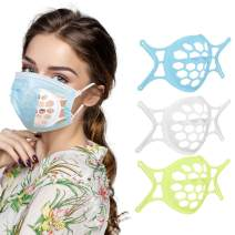 lEPECQ Mask Bracket, Mask Inner Support Frame Provides More Space for Comfortable Breathing, Mas k Inner Support Pad for Homemade Cloth Mas k Washable Reusable Fits Adults Kids (White+Blue+Green)