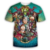 YX GIRL Lisa Frank T Shirt Dolphins Novelty Unisex 3D Printed Summer T-Shirt (R-MD1, S/M)
