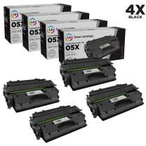 LD Compatible Toner Cartridge Replacement for HP 05X CE505X High Yield (Black, 4-Pack)