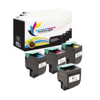 Smart Print Supplies Compatible Lexmark CX310 80C1SK0 80C1SC0 80C1SM0 80C1SY0 Toner Cartridge Replacement (Black, Cyan, Magenta, Yellow) - 4 Pack