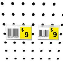"""Pegboard Label Holder, Scannable UPC Ticket Display with Slot for Peg Wall, 2.5"""" L x 1.25"""", 50 Pack"""