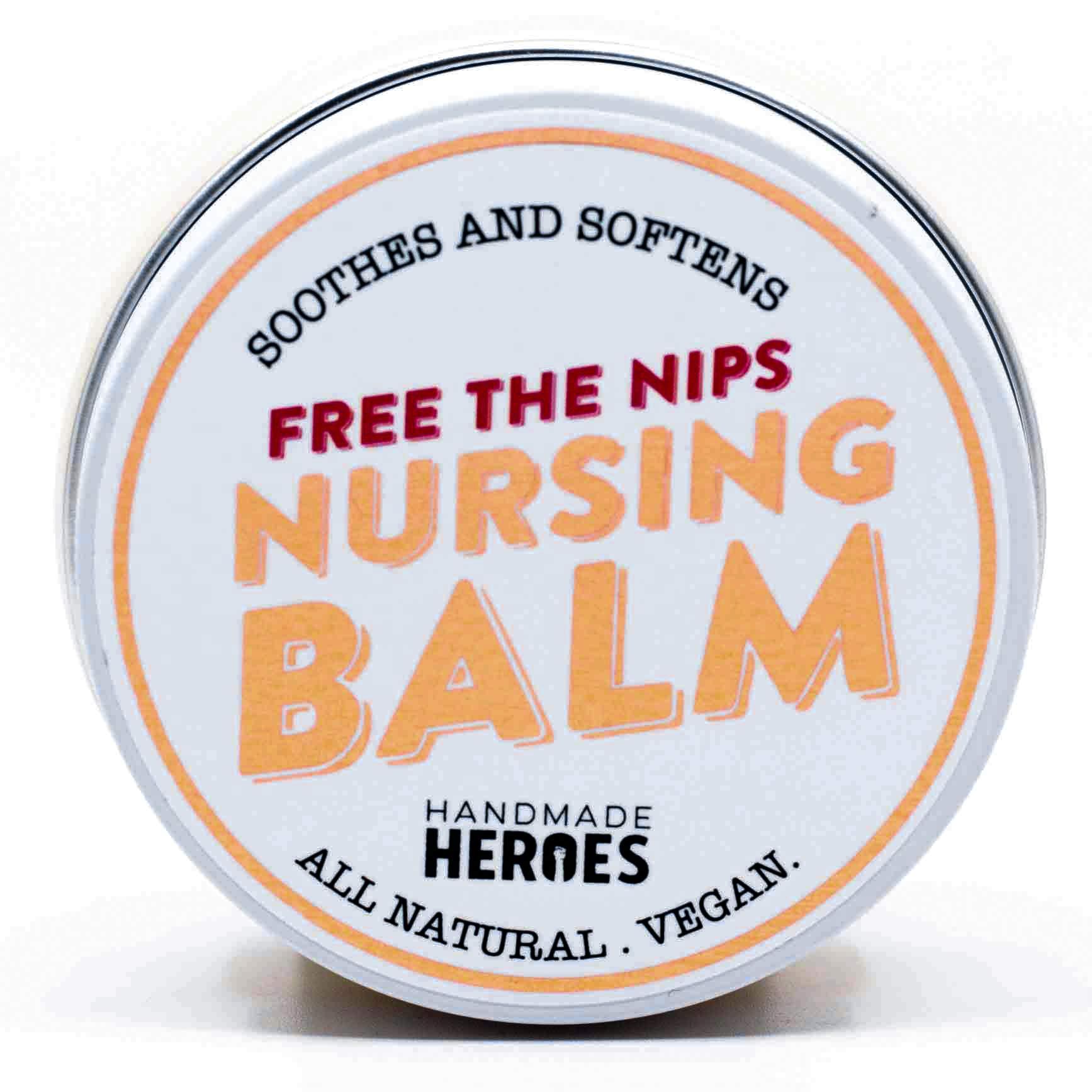 100% Natural & Vegan Nipple Balm with Calendula Extract, Nipple Cream for Cracked Nipples and Growing Breast Feeding Nipples, 2oz