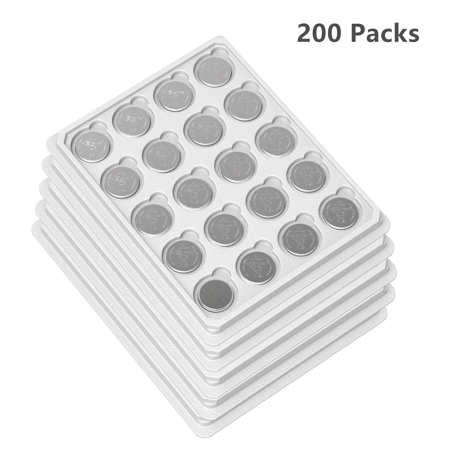 EEMB 3 V CR2025 150 mAh Battery- Button Coin Cell Lithium Battery Perfect for Watches, Car Remote Key, Alarm Clock Toys UL Certified (200PCS)