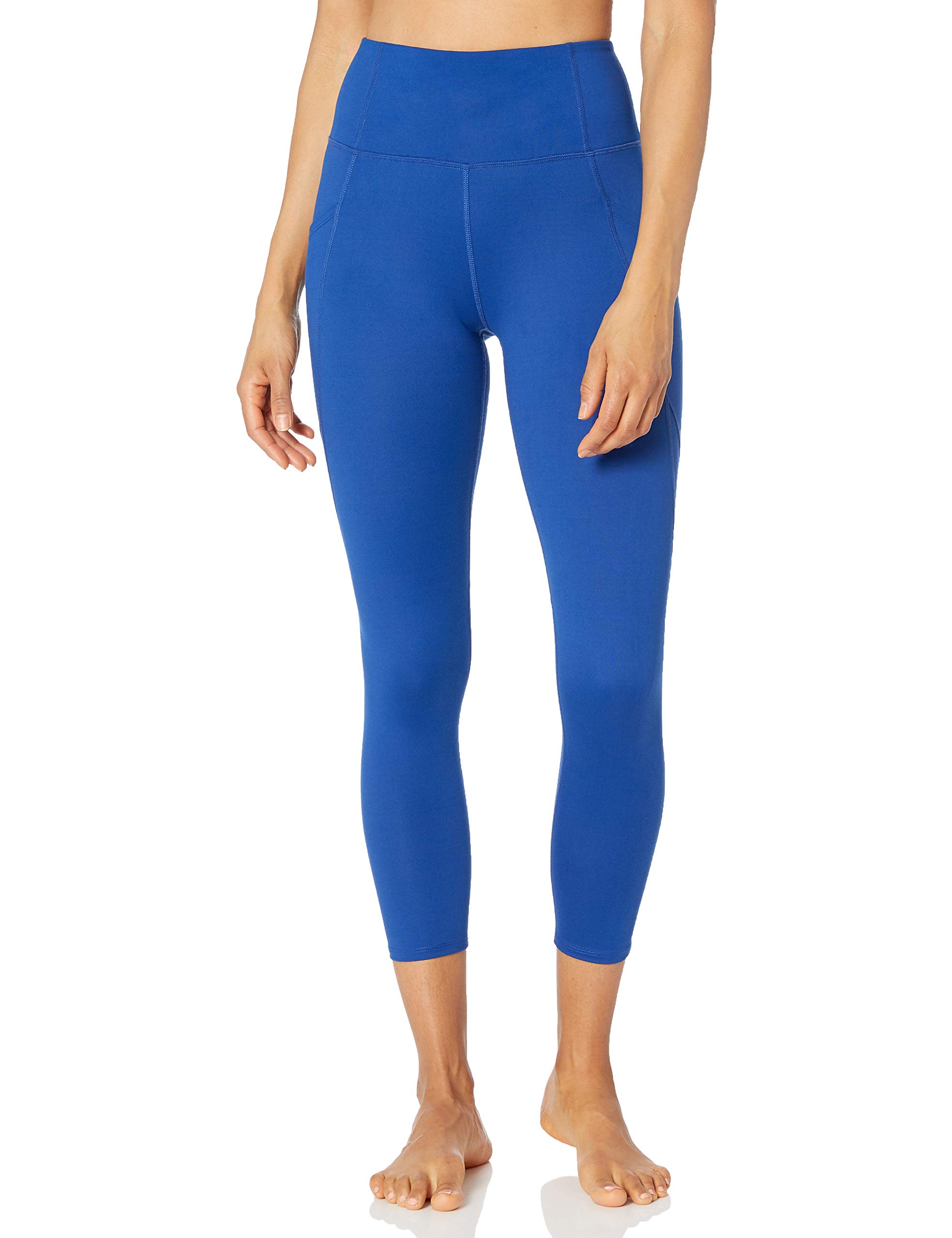 """Amazon Brand - Core 10 Women's (XS-3X) All Day Comfort High Waist Yoga 7/8 Crop Legging with Side Pockets - 24"""""""
