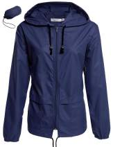Beyove Women's Rain Jacket Lightweight Active Outdoor Waterproof Packable Hooded Raincoat Anti-Dust Anti-Particle