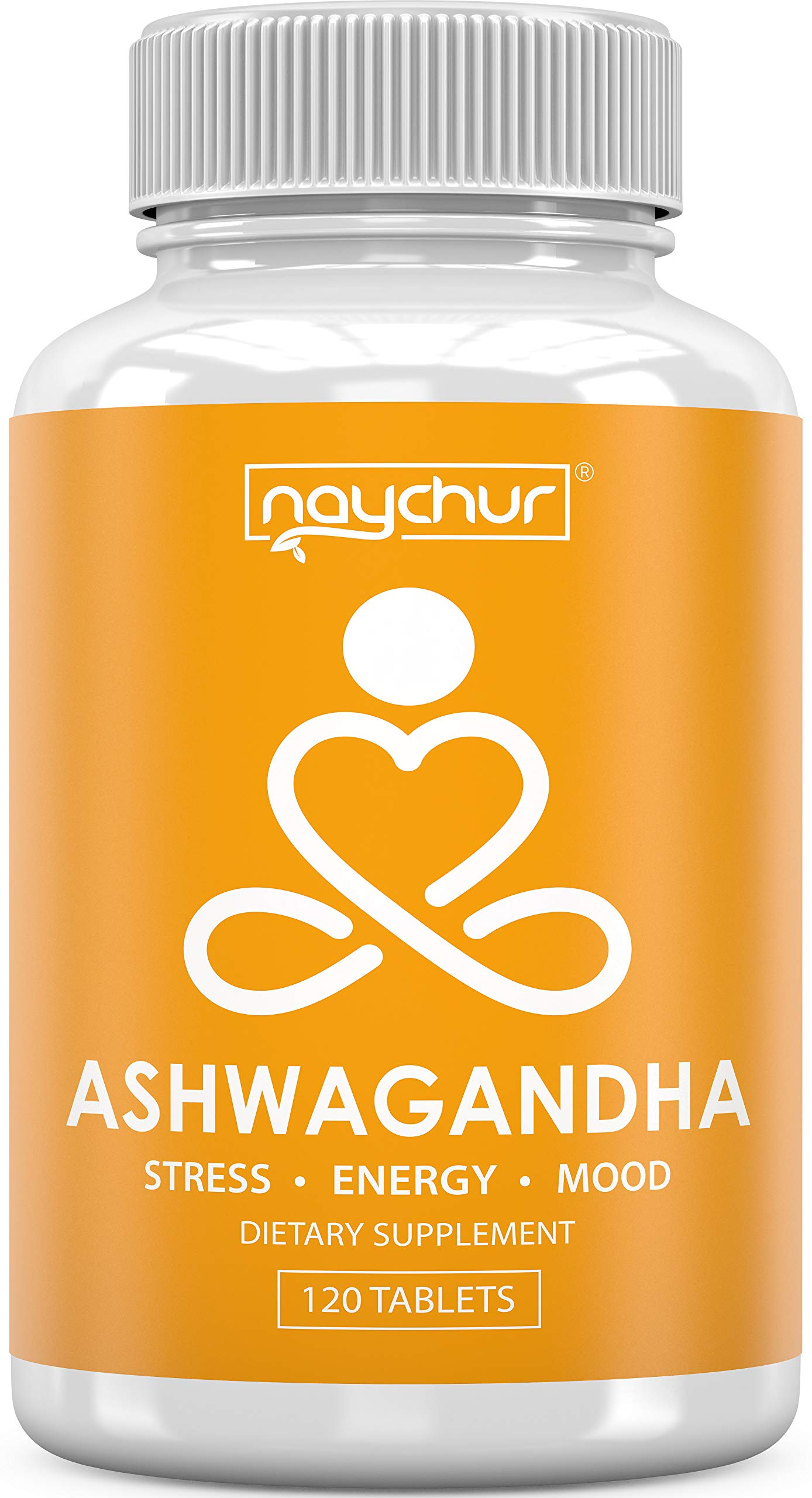Organic Ashwagandha Root Powder | Stress Relief Pills Natural Anti Anxiety Supplements for Adults | Mood Boost Support Cortisol Adrenal Fatigue Energy Supplement | Organic Black Pepper | 120 Tablets