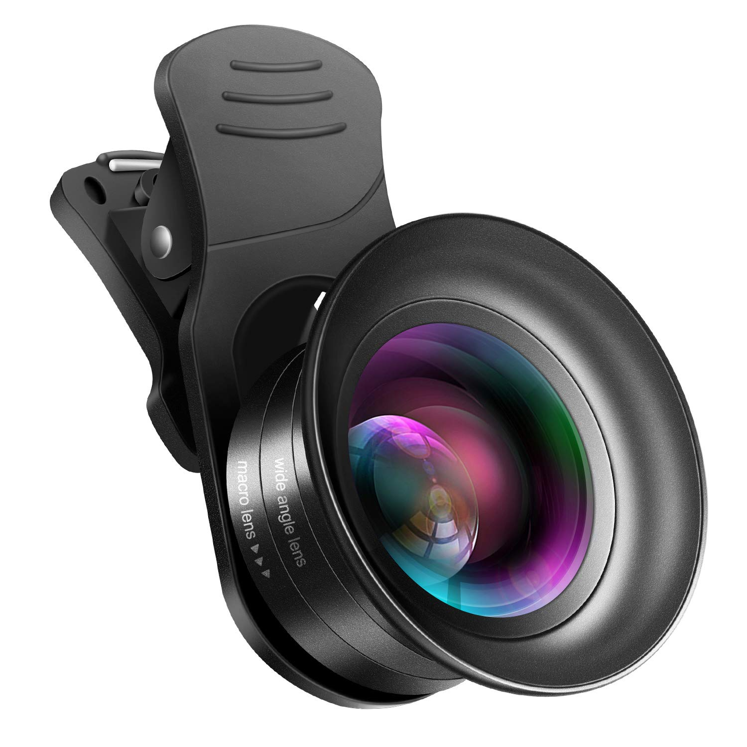 Cell Phone Camera Lens Kit – VIEWOW 4K HD 7 Optical Glasses 15X Macro 0.45X Wide Angle Phone Lens Kit with LED Light and Travel Case, Compatible with iPhone X/XS/8/7 Plus Samsung Pixel