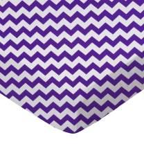 SheetWorld Fitted Portable / Mini Crib Sheet - Purple Chevron Zigzag - Made In USA