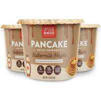 Keto Pancake Cup by Upside Down Bakery - Buttermilk Maple (3 Net Carbs) - High Protein Snack, Microwavable Mug Cake Dessert - Just Add Water - 1g Sugar - Gluten Free - Single Serve Cups (3 Pack)