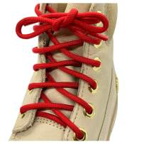Mercury + Maia Honey Badger Survival Paracord Boot Laces (1 Pair/ 2 Pairs)- 7 Strand Nylon Core - Made in USA (Red)