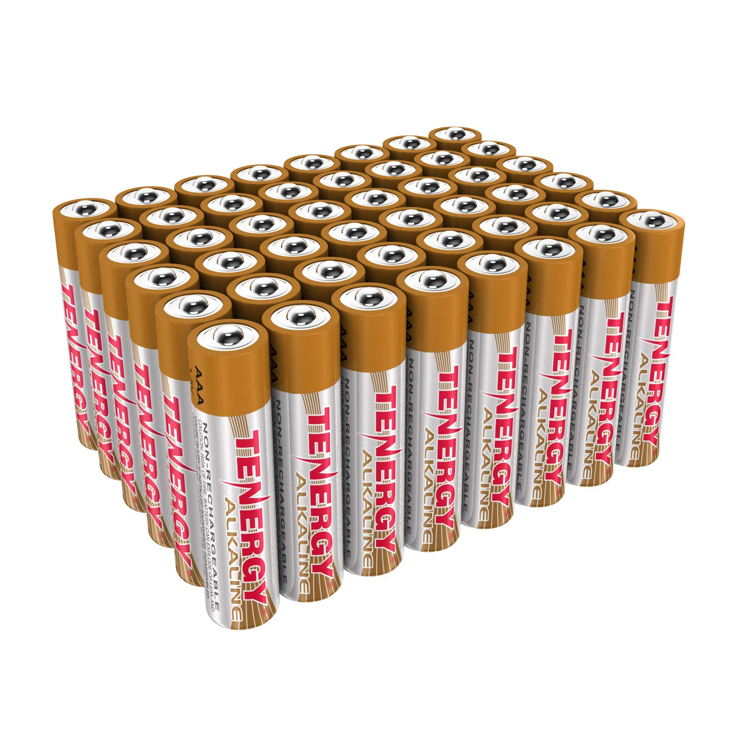 Tenergy 1.5V AAA Alkaline Battery, High Performance AAA Non-Rechargeable Batteries for Clocks, Remotes, Toys & Electronic Devices, Replacement AAA Cell Batteries, 48-Pack
