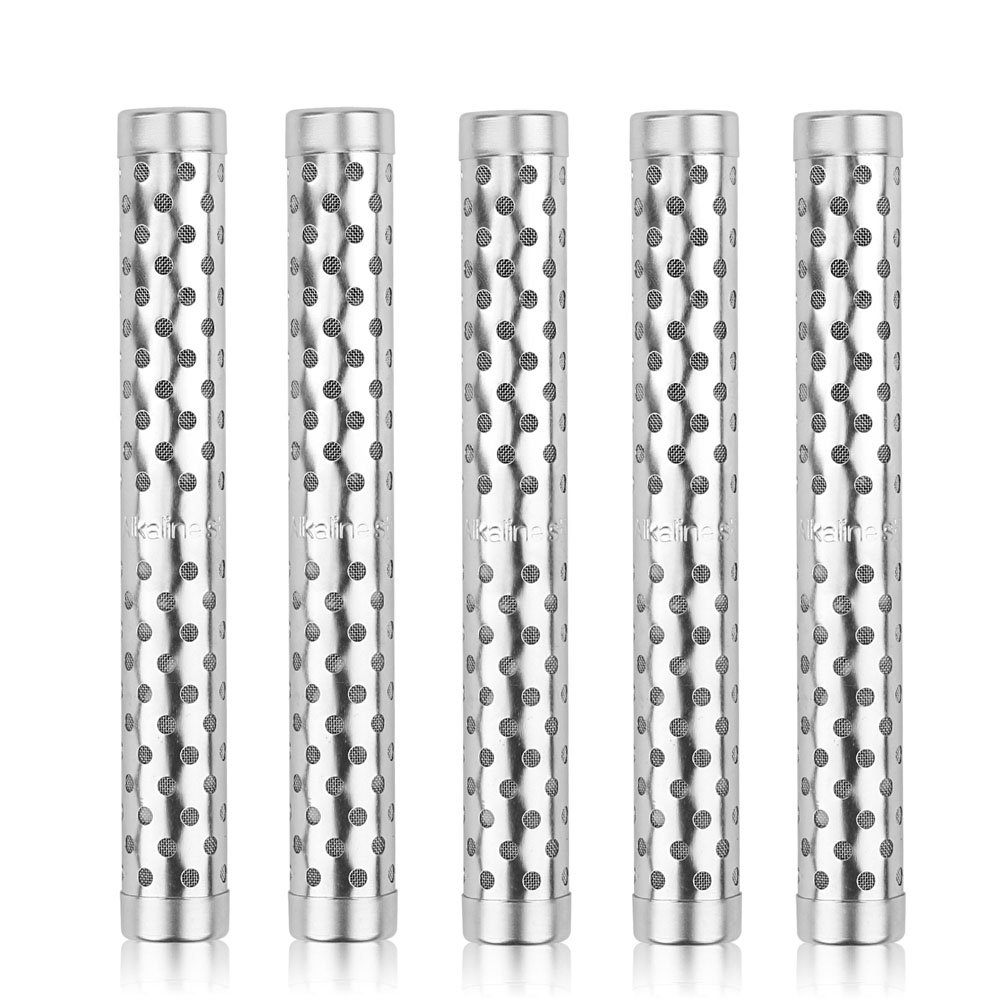 HailiCare 5pcs Portable Alkaline Water Ionizer Stick Stainless Health pH Lonizer Sealed with Plastic Wrapper Travel Size